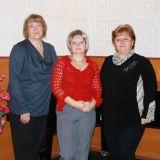 Слева направо – Романова Илона Хейновна, Федосеева Ольга Александровна, Полухина Ольга Феодосьевна