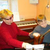 Белова Нина Андреевна с учеником Кузнецовым Антоном